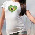 T-Shirt dame - Coeur brésilien