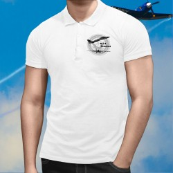 Herren Mode Polo shirt - Jagdflugzeug - Grumman F-14 Tomcat (Top Gun) US-Navy