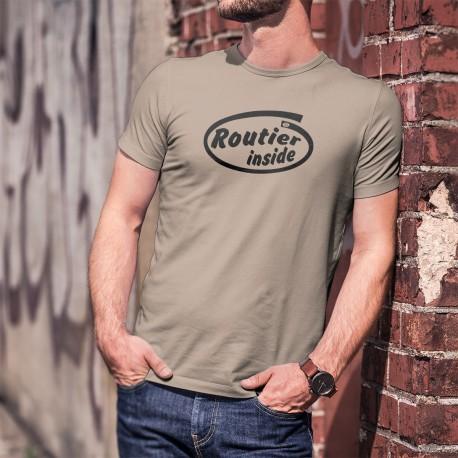 T-Shirt humoristique homme - Routier Inside (chauffeur poids lourd à l'intérieur du T-shirt)