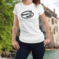T-Shirt dame - Vaudoise Inside (Pure Vaudoise de coeur ou de sang à l'intérieur du T-shirt)