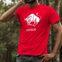 Men's cotton T-shirt - Taurus astrological sign