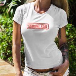 Donna moda T-Shirt - Silicone Free (bel petto certificato senza silicone)