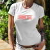 Women's fashion funny T-Shirt - Silicone Free (natural breast)