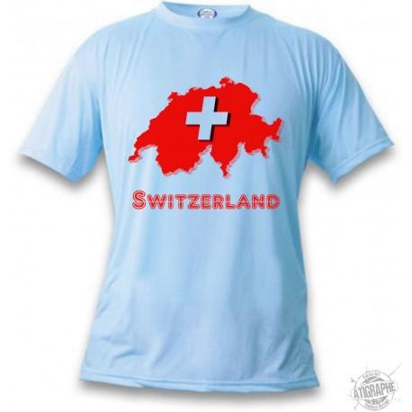 T-Shirt - Switzerland, Blizzard Blue