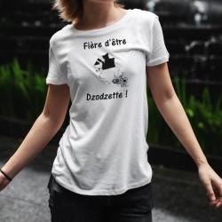 Fière d'être Dzodzette ! ★ T-Shirt décontracté Dame - canton de Fribourg et vachette à cornes