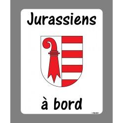 Sticker Autocollant - Jurassiens à bord - pour voiture