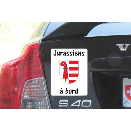 Car Sticker - Jurassiens à bord
