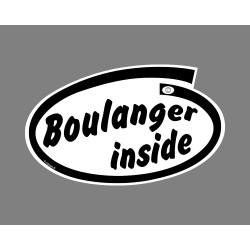 Sticker Autocollant humoristique - Boulanger inside (Excellent Boulanger à l'intérieur de la voiture)