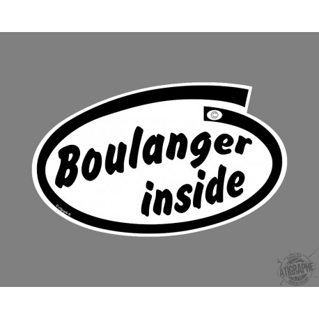 Car's funny Sticker - Boulanger inside