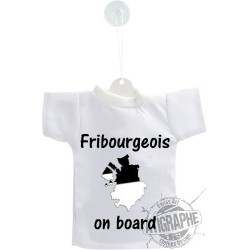 Mini T-Shirt - Fribourgeois  on Board - per automobile