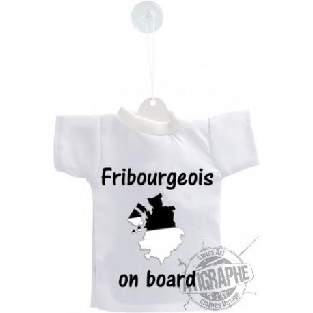 Mini T-Shirt - Fribourgeois  on Board - per automobile