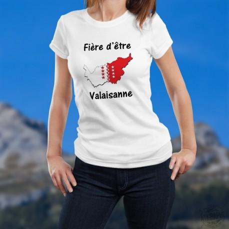 Donna moda T-shirt - Fière d'être Valaisanne 3D