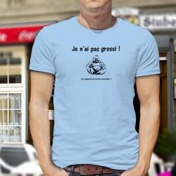 T-Shirt humoristique mode homme - Je n'ai pas grossi. j'ai augmenté ma surface caressable - Bouddha