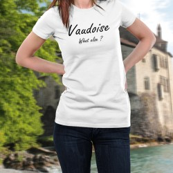 Donna moda T-shirt - Vaudoise, What else ?