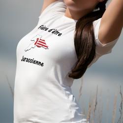 Women's slinky T-Shirt - Fière d'être Jurassienne