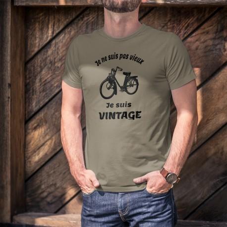 Vintage cyclomoteur Solex ★ Je ne suis pas vieux, je suis vintage ★ T-Shirt homme VeloSolex (mobylette populaire)
