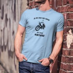 """T-Shirt humoristique mode homme - Vintage Boguet (Vélomoteur PUCH Maxi S) et la phrase """"Je ne suis pas vieux, je suis vintage"""""""