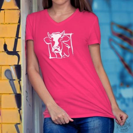 Donna cotone T-Shirt - Testa di mucca dell'Holstein