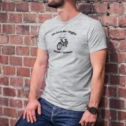 Herrenmode Humoristisch T-Shirt - Ds isch ke Töffli, Ds isch e Läbäsart (Mofa PUCH Maxi S)