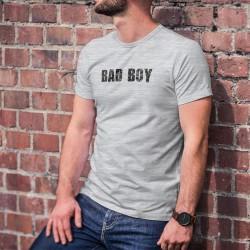 Humoristisch Herren Mode T-Shirt - Bad Boy (böser Junge, zerkratzte Schrift)