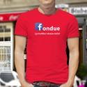 Uomo cotone T-Shirt - Fondue, le meilleur réseau social