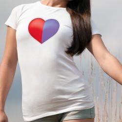 Donna moda T-shirt - Cuore Ticinese- Canton Ticino