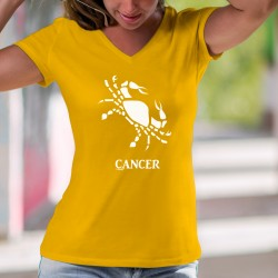 Lady's fashion cotton t-shirt - Cancer ♋ astrological sign (symbolized by a crab)