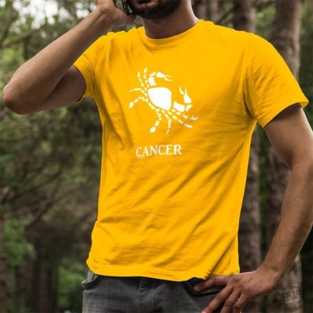 Herren Mode Baumwolle T-Shirt - Sternbild Krebs ♋
