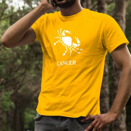 Men's Fashion cotton astrological sign T-shirt - Cancer ♋