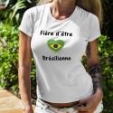 Donna slim T-shirt - Fière d'être Brésilienne