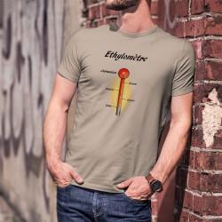Ethylomètre jurassien ★ alcootest ★ T-Shirt homme,  Les différents stades :  sobre - joyeux - éméché - bourré - Jurassien