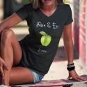 La Pomme ★ Adam & Eve® ★ T-Shirt coton dame