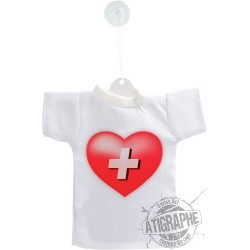 Mini T-shirt - Cuore Svizzero - per automobile