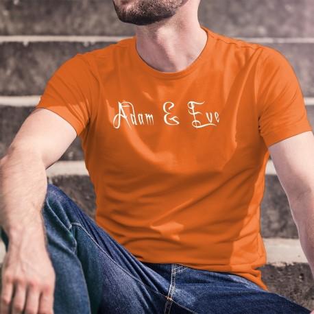 T-shirt homme 100% coton illustré du logo de la marque Adam & Eve® sur le devant et sur la manche droite