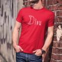 Dieu ★ Adam & Eve® ★ Uomo T-Shirt