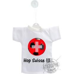 Mini football T-Shirt - Hop Suisse - Pour voiture