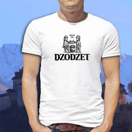 Dzodzet depuis 1481 ★ T-Shirt fribourgeois homme (logo d'une bière célèbre du canton de Fribourg)