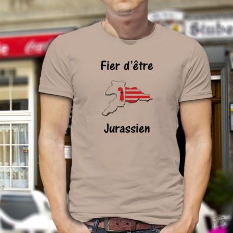 Fier d'être Jurassien ★ T-Shirt homme, frontières du canton du Jura