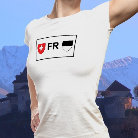 Fribourg license plate ★ Women's fashion T-Shirt