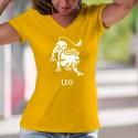 Signe du Lion (Leo) ♌ T-Shirt coton Dame