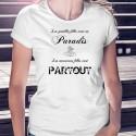 Damenmode T-shirt - Les gentilles filles