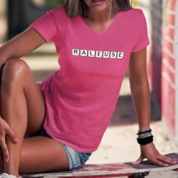 Râleuse ✻ lettres de Scrabble ✻ T-Shirt coton dame, trait de caractère qui peut plaire, même si les hommes ne le disent pas