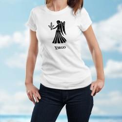 Vierge (Virgo) ♍ T-shirt signe astrologique mode dame pour les personnes nées entre le 23 août et le 22 septembre