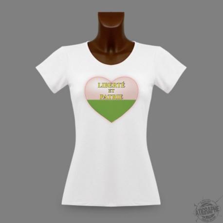 Frauen Slim T-shirt - Waadtlander Herz