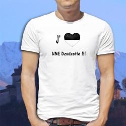J'aime UNE Dzodzette ★ T-Shirt fribourgeois homme avec un cœur aux couleurs du canton de Fribourg