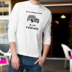 Men's Funny Sweatshirt - Vintage Renault 4L
