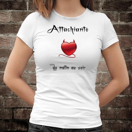 Attachiante, du matin au soir ★ coeur rouge diabolique ★ T-Shirt mode dame
