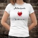 Attachiante, du matin au soir ★ coeur diabolique ★ T-Shirt mode dame