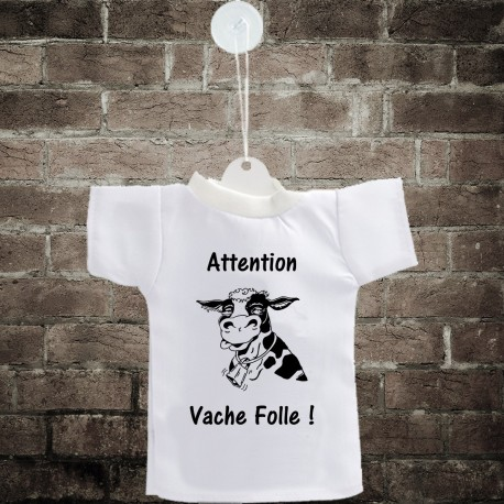 Car's Mini T-Shirt - Attention, vache folle ! - per automobile