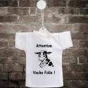 Attention, vache folle ! ✿ Mini T-Shirt